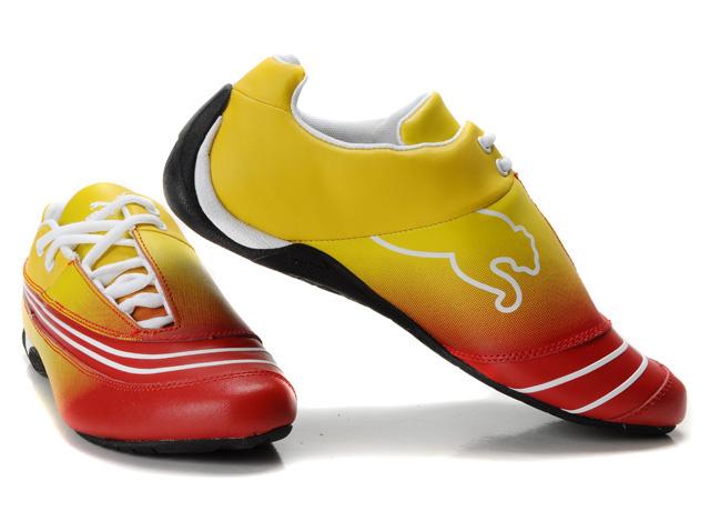 Women's Puma Ferrari Fluxion II shoes Plumpurple/Beige/Yellow