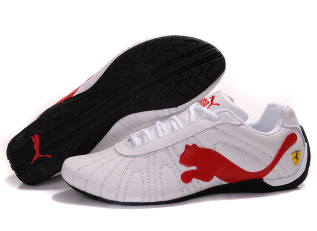 Men's Puma Ferrari Purlish Shoes Beige/Brown/Grey 01