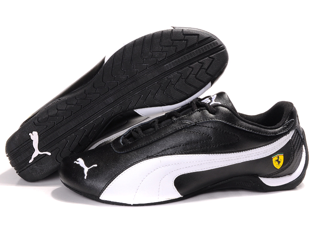 Men's Puma Schumacher Trainers White/Black/Grey