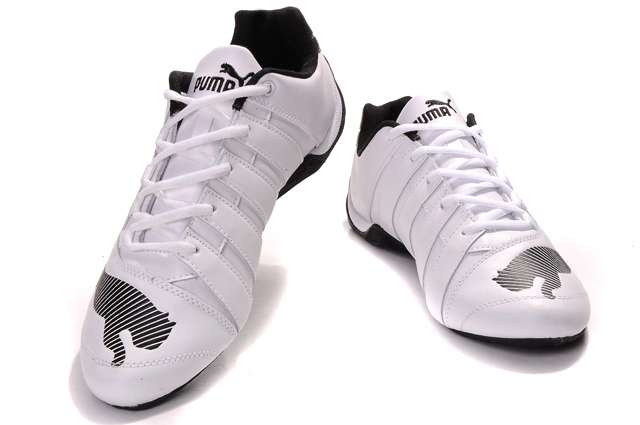 Men's Puma Ducati Testastretta Shoes White/Gold