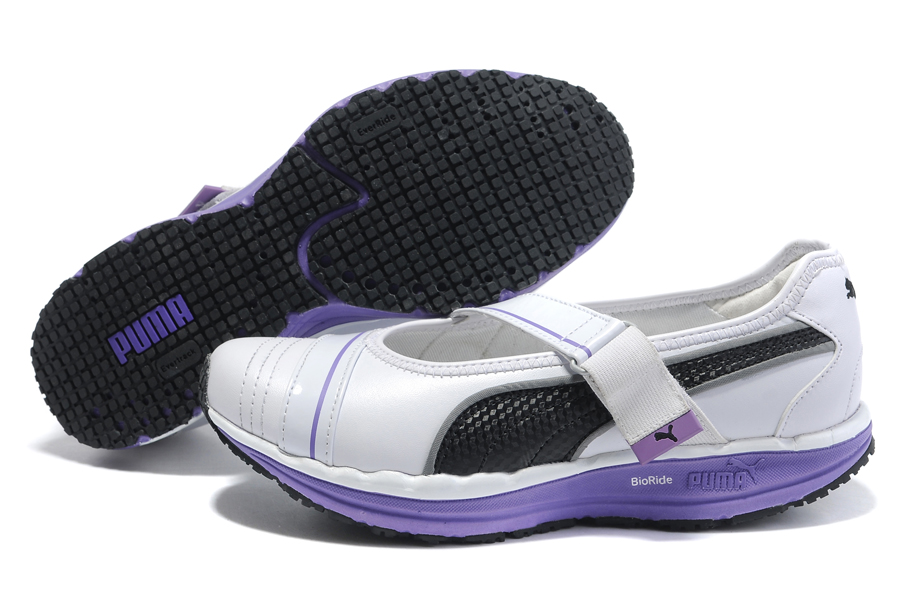 Women's Puma BodyTrain Mary Jane Toning Shoes White/Purple