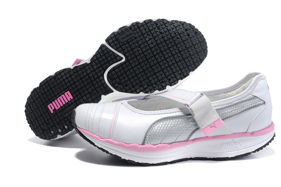 Women's Puma BodyTrain Mary Jane Toning Shoes White/Pink