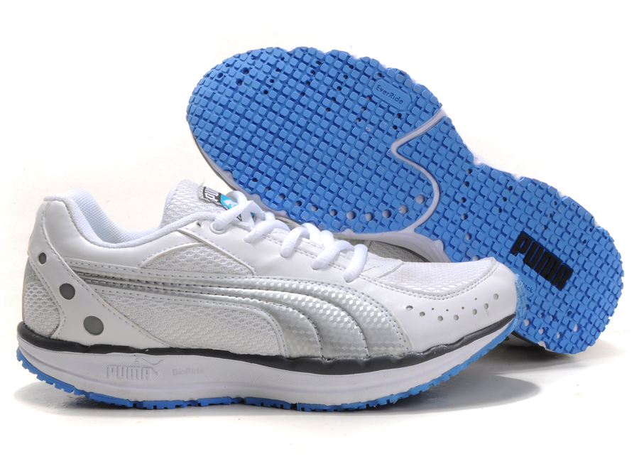 Women's Puma BodyTrain Mesh Toning Shoes White/Blue