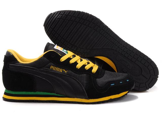 Puma Cabana Racer II LX Black/Yellow | Puma Footwear Range