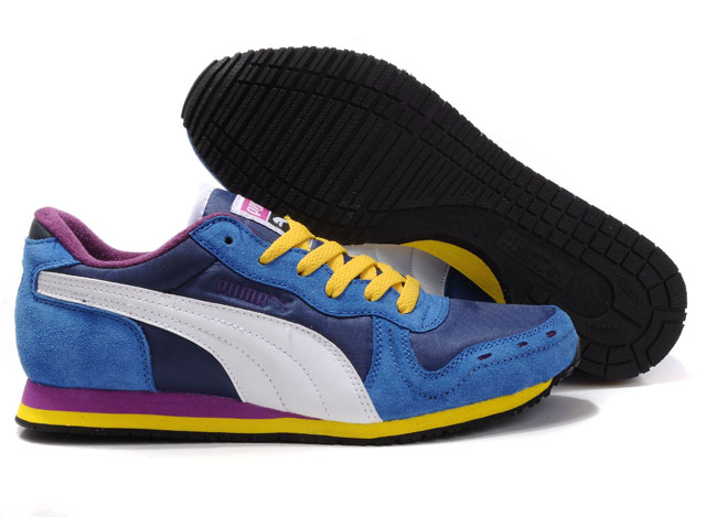 Men's Puma Cabana Racer II LX Blue/Yellow/Purple