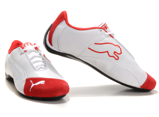 Ferrari Future Cat M1 Big Cat Shoes White/Red