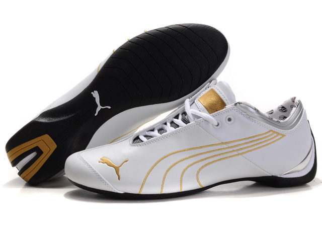 Women's Puma Ferrari Future Cat Shoes White/Gold