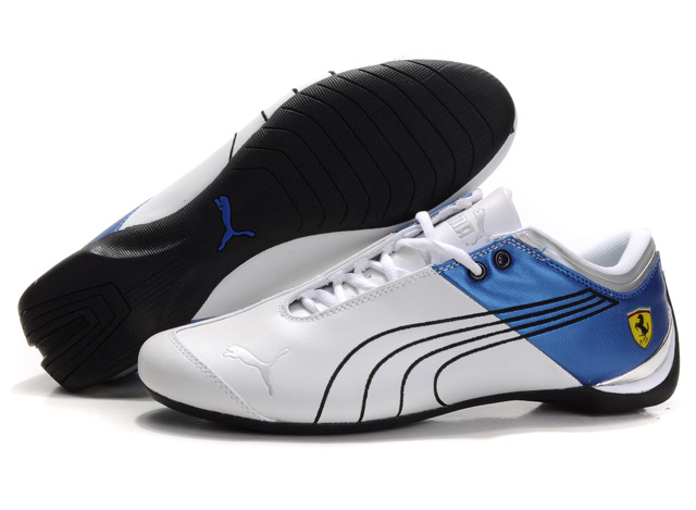 Puma Ferrari Future Cat Shoes White/Black/Blue