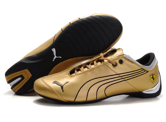 Puma Ferrari Future Cat Shoes Gold/Black