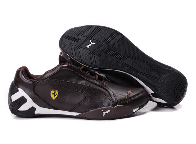 Puma Ferrari Scuderia GT Shoes Brown/White
