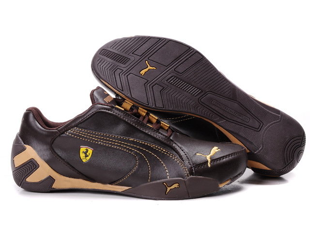 Puma Ferrari Scuderia GT Shoes Brown/Sandybrown