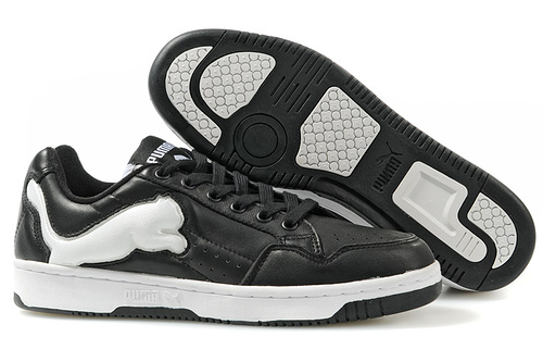 Puma Future Cat Lo Trainers Black/White