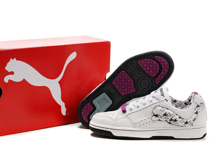 Puma Future Cat Lo Trainers White/Plum purple