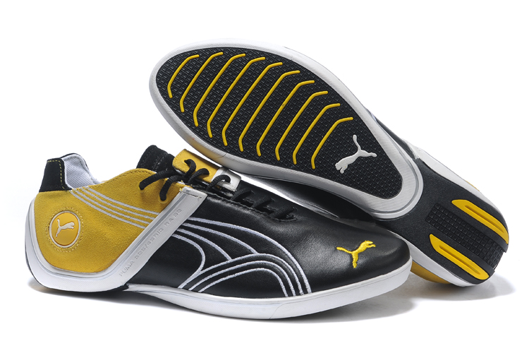 Men's Puma Future Cat Remix Sneaker Black/Yellow