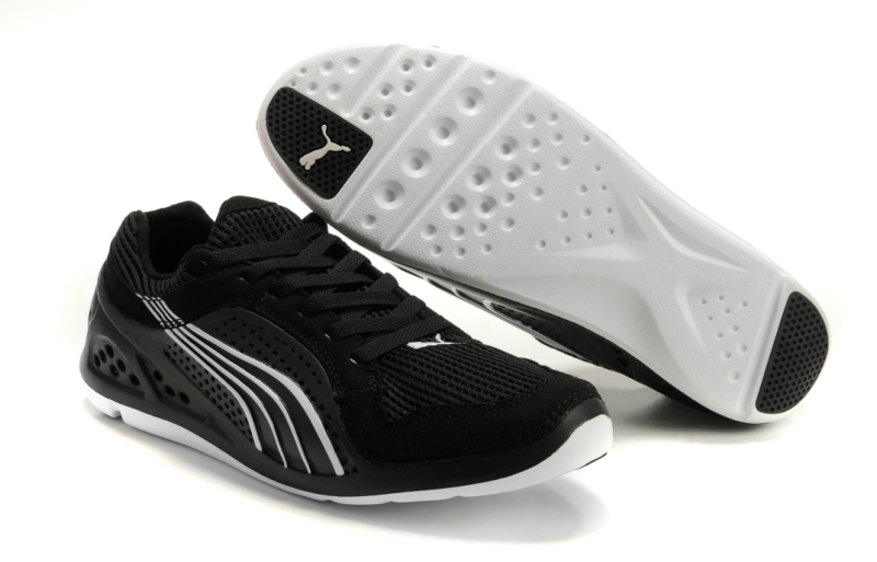 Puma Black And Purple Running Shoes