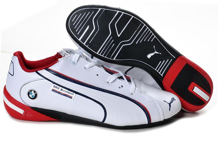 Men's Puma BMW Shoes White Red
