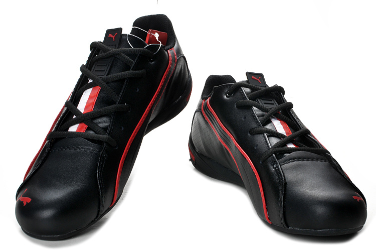 Men's Puma BMW Shoes Black Red
