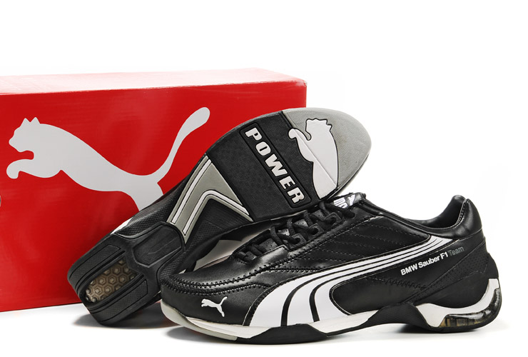 Men's Puma BMW Sauber F1 Shoes Black/White/Grey