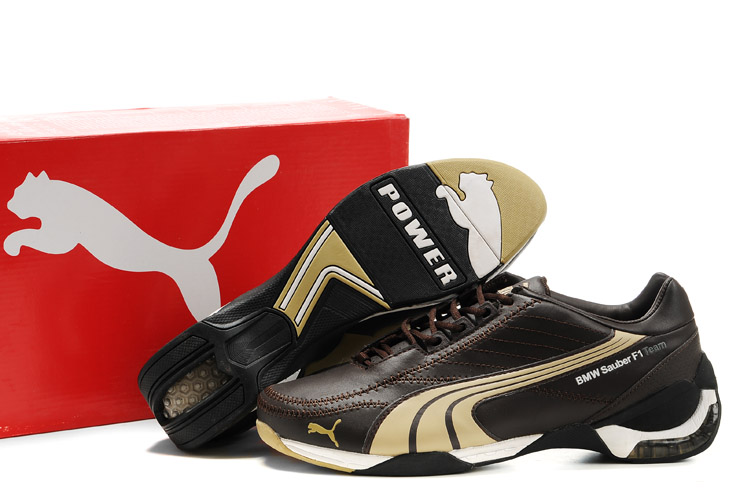 Men's Puma BMW Sauber F1 Shoes Brown/Tan/White