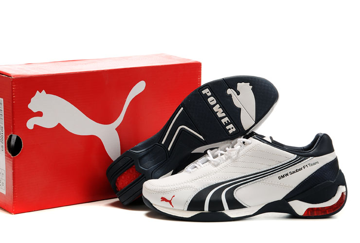 Puma BMW Sauber F1 Shoes White/Black/Red