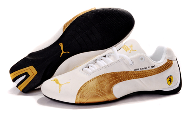 Puma BMW Shoes Tan/Gold