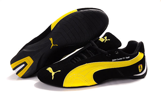 Puma BMW Shoes Black/Yellow