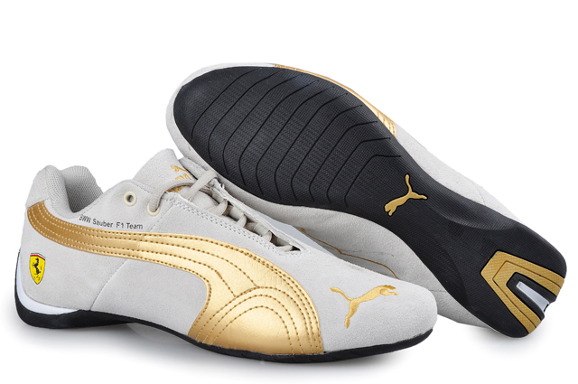 Puma BMW Shoes Grey/Gold