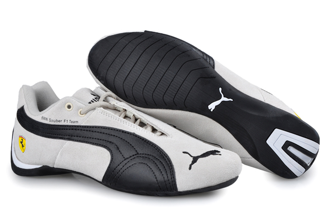 Men's Puma BMW Shoes Grey/Black