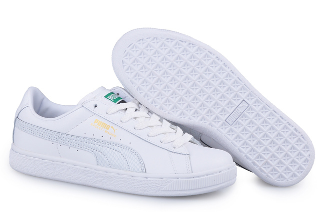 Men's Puma Basket II Sneakers White