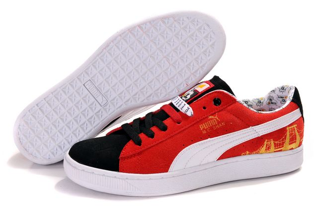 Puma Basket Shoes Black/Red/White