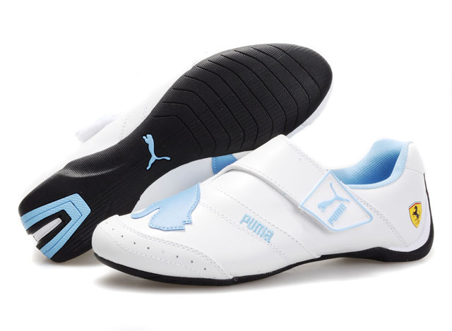 Women's Puma Baylee Future Cat Shoes White/Light Blue