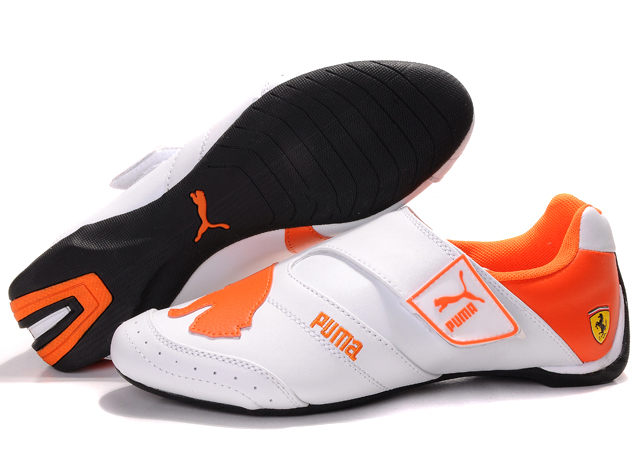 Women's Puma Baylee Future Cat Shoes White/Orange