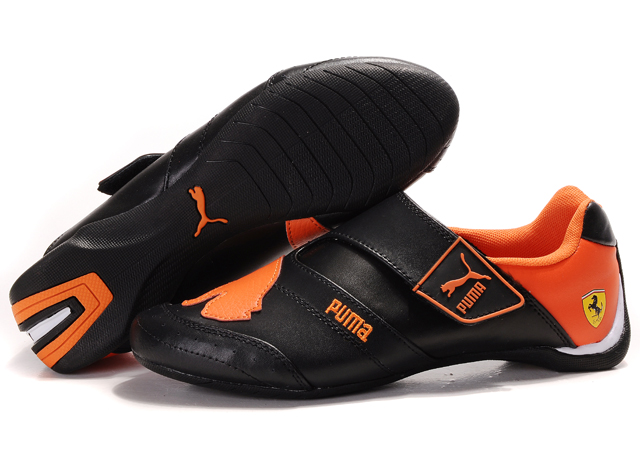 Women's Puma Baylee Future Cat Shoes Black/Orange 02