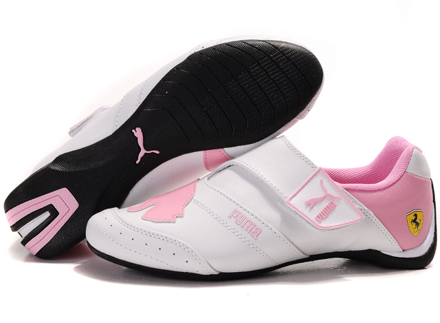 Women's Puma Baylee Future Cat Shoes White/Pink 02