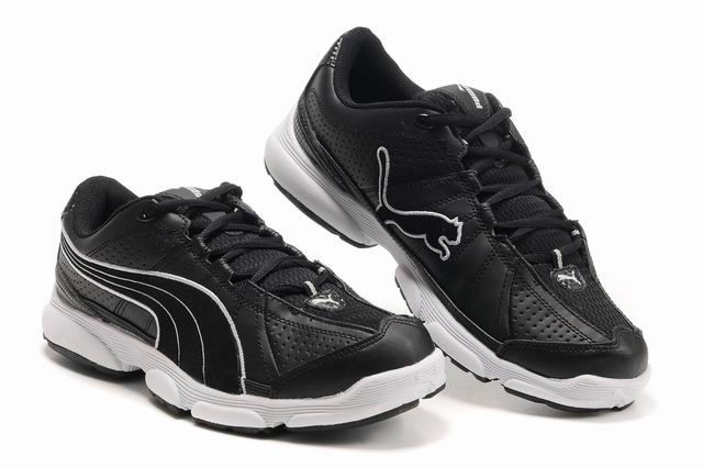 Puma Breathable Mesh Running Shoes Black/White