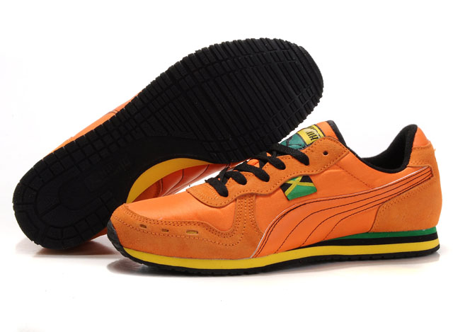 Puma Cabana Racer Shoes Orange/Beige