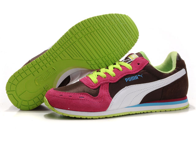 Puma Cabana Racer Shoes Brown/Red/Green