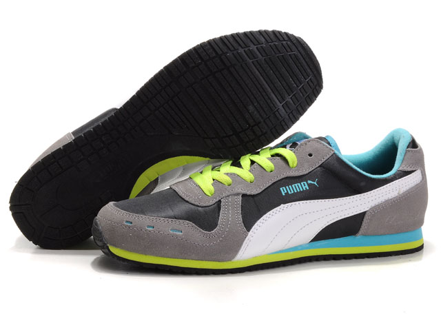 Puma Cabana Racer Shoes Black/Grey/White