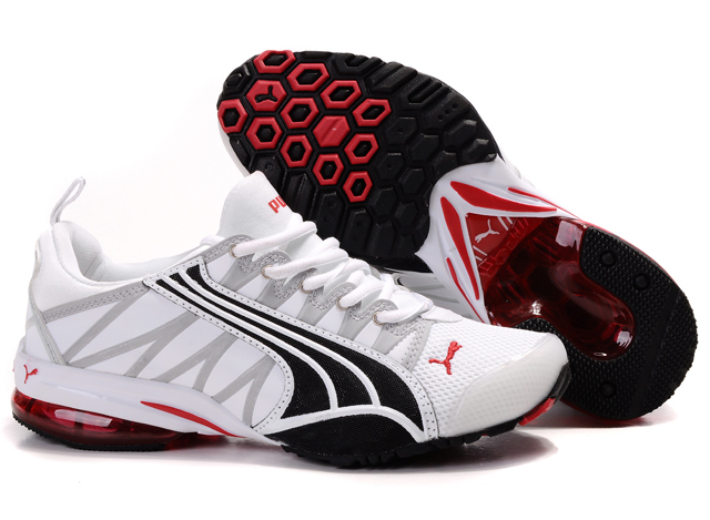 Puma Cell Running Shoes White/Black/Red