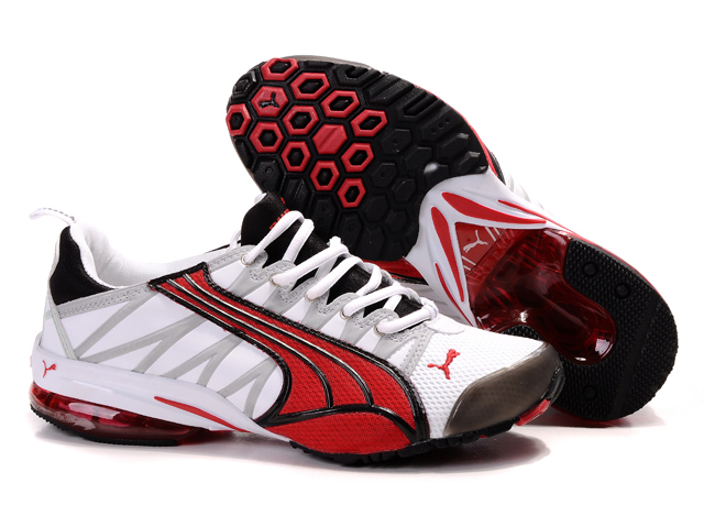 Puma Cell Running Shoes White/Red