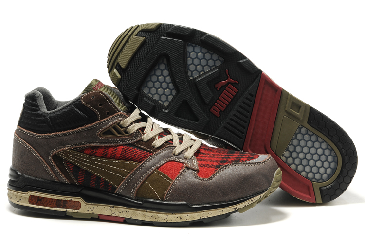 Puma Complete Eutopia Shoes Brown/Red