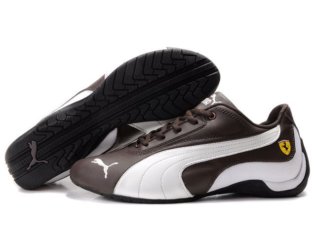 Men's Puma Drift Cat Shoes Chocolate/White