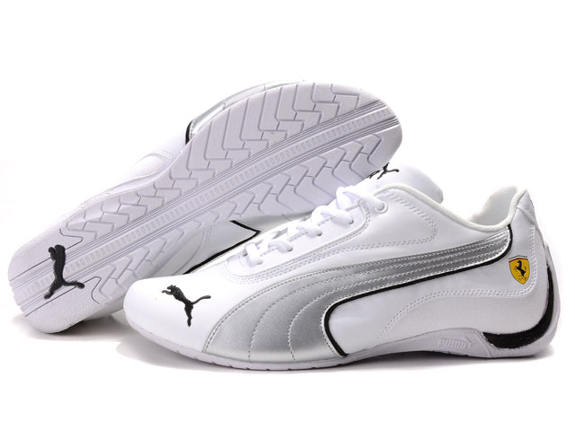 Puma Drift Cat Shoes White/Silver 01