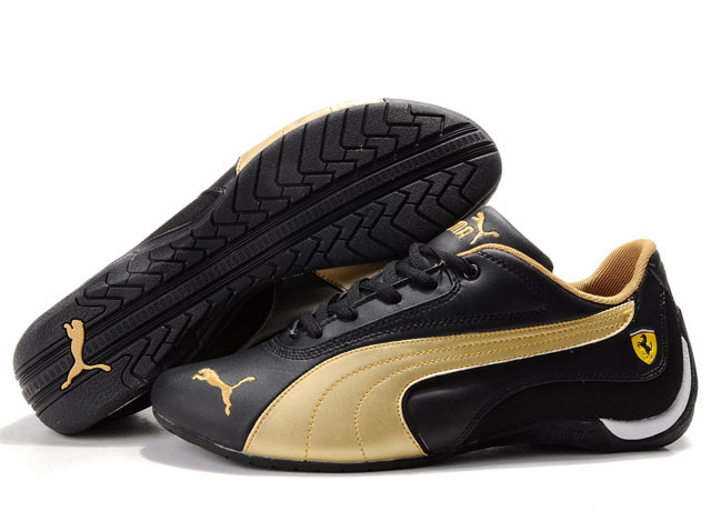 Men's Puma Drift Cat Shoes Black/Gold