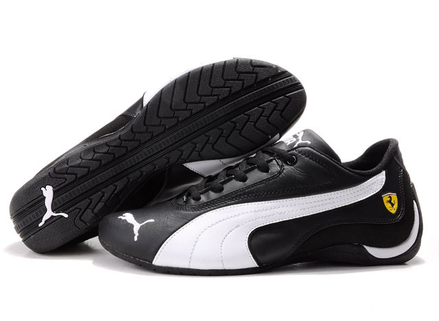 Men's Puma Drift Cat Shoes Black/White 02