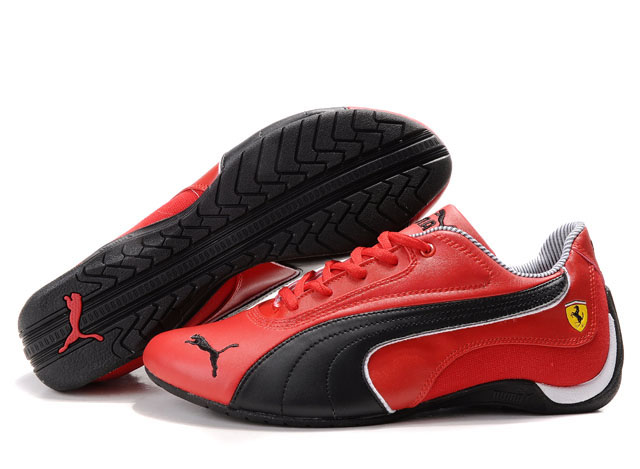 Men's Puma Drift Cat Shoes Red/Black
