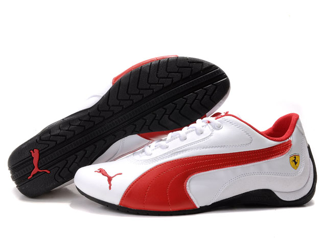 Puma Drift Cat Shoes White/Red 02