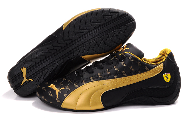 Men's Puma Drift Cat Trainers Black/Gold