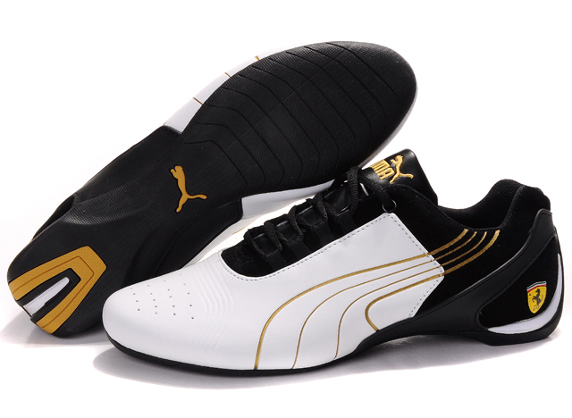 Puma Drift Cat iii Shoes White/Black/Gold