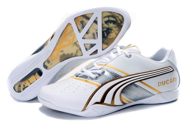 Puma Ducati Shoes White/Silver/Yellow